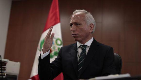 Aldo Vásquez, presidente de la Junta Nacional Justicia, expresó su indignación frente al caso 'Richard Swing'. (Foto: GEC)