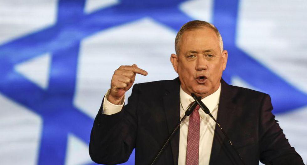 Benny Gantz no tenía experiencia política cuando lanzó hace un año un nuevo partido centrista, Kahol Lavan (Azul-blanco), los colores de la bandera de Israel. (Foto: AFP)