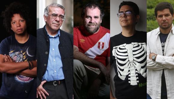 De izq. a der.: Leonardo Ledesma Watson, Jorge Cuba Luque, José Carlos Yrigoyen, Ernesto Carlín y Renato Cisneros. (Fotos: GEC)