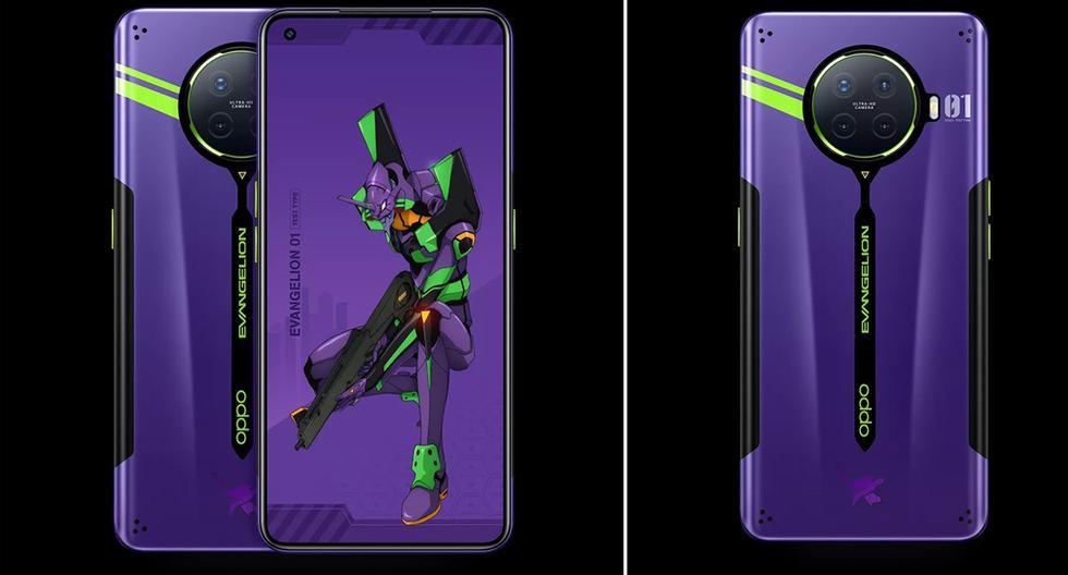 El nuevo celular de Oppo inspirado en 'Evangelion' tendrá 8 Gb de RAM y 256 GB de memoria interna. (Foto: Oppo)