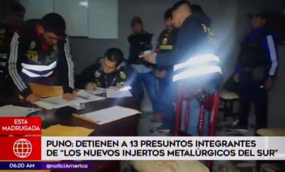 Caen 13 integrantes de banda dedicada al robo de oro. (Foto: Captura América Noticias)