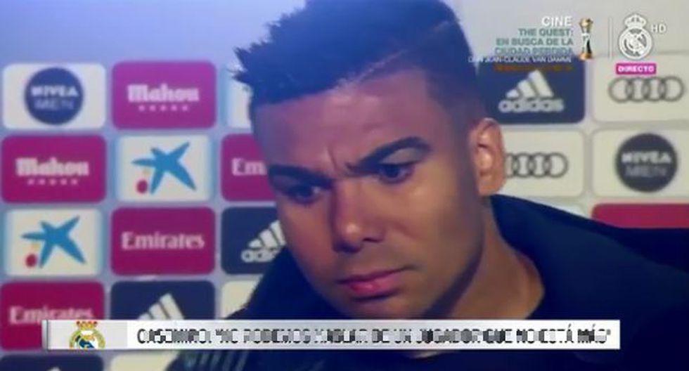 Casemiro contrariado tras el 0-3 ante el Barcelona.