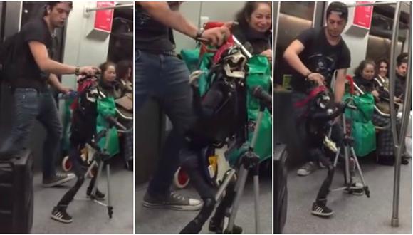 Marioneta interpreta a Axl Rose en Metro de Santiago [VIDEO]