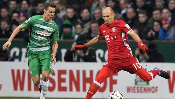 Con Pizarro lesionado: W. Bremen perdió 2-1 ante Bayern Múnich