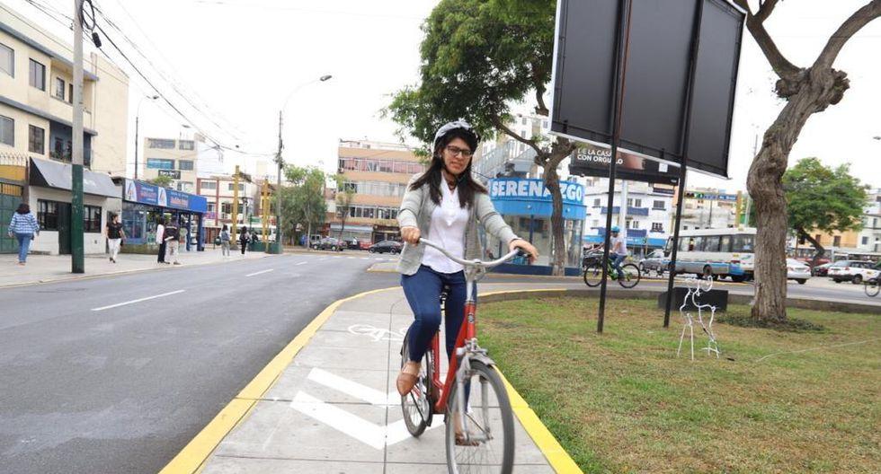 Según la comuna, la vereda donde se implementó la ciclovía no era usada por los peatones. (Foto: Municipalidad de Magdalena)