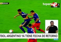 ¡Es oficial! El fútbol argentino regresa el 30 de octubre