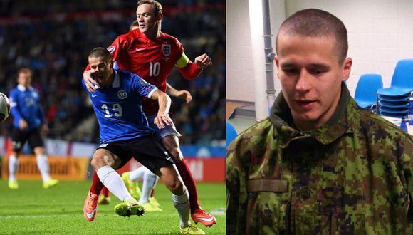 Artur Pikk, lateral de Estonia: futbolista y soldado a la vez