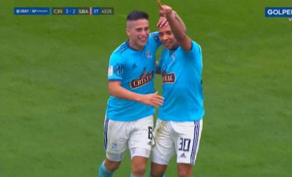 Sporting Cristal vs. Sport Boys: Cristian Palacios convirtió el 3-2 tras veloz contragolpe | Foto: Captura
