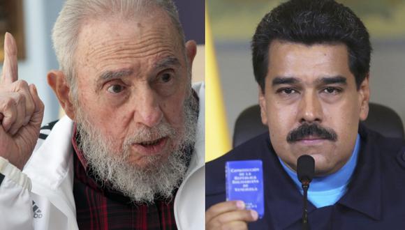 """Carta de Fidel a Maduro ante los """"brutales planes"""" de EE.UU."""