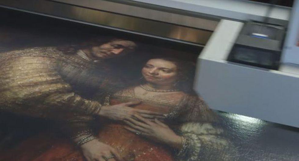 Crean una técnica para imprimir pinturas con textura y relieve