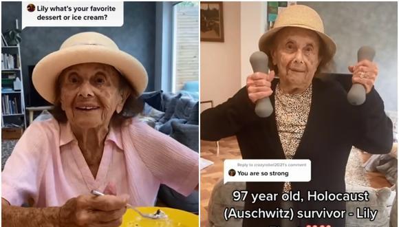 Lily Ebert, la superviviente de Auschwitz que cuenta sus vivencias a sus 1.2 millones de seguidores en TikTok. (Foto: @lilyebert)