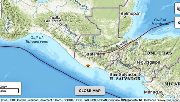 Sismo de magnitud 5,7 sacude el sur y el centro de Guatemala sin causar daños.