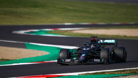 Lewis Hamilton ganó el premio de la Toscana en Italia de principio a fin. (Foto: AFP)