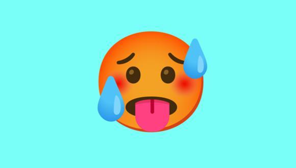 Sal de dudas y mira qué es lo significa este emoji de la cara roja de WhatsApp. (Foto: Emojipedia)