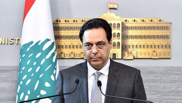El primer ministro de Líbano Hassan Diab está bajo presión por la explosión en el puerto de Beirut. (AFP).