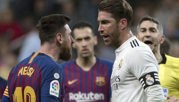 Sergio Ramos es el jugador con más clásicos Real Madrid-Barcelona jugados (45). (Foto: AFP)