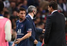 Lionel Messi y su reacción tras ser reemplazado por Pochettino en el PSG vs. Lyon |FOTOS