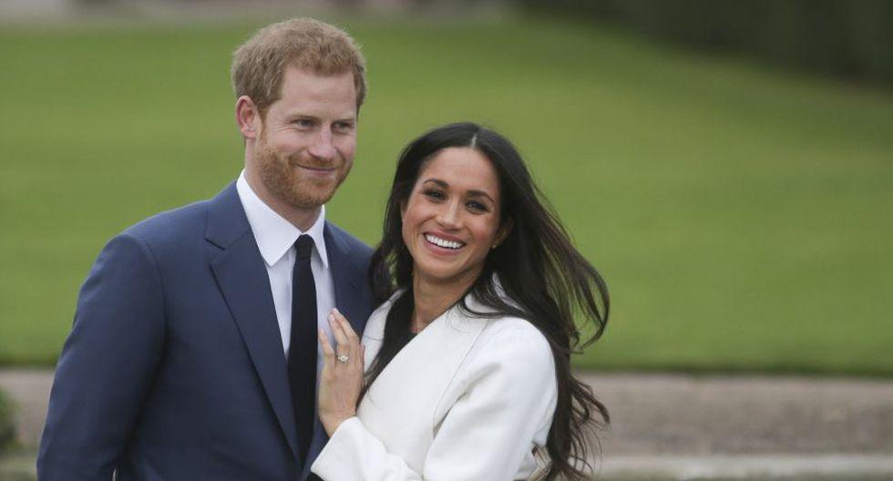 El príncipe Harry de Gran Bretaña se compromete con su novia de la actriz estadounidense Meghan Markle a principios de noviembre del 2017. (Foto: AFP).
