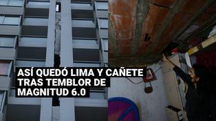 Imágenes impactantes del sismo de magnitud 6 grados registrados en Lima y Cañete