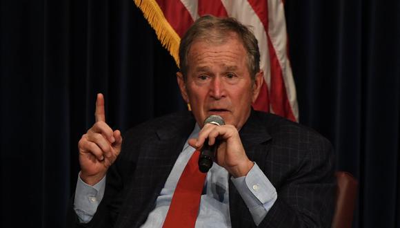 El expresidente de Estados Unidos George W. Bush felicitó a Joe Biden por su victoria frente a Donald Trump. (Mark RALSTON / AFP).
