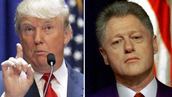 Trump: Clinton tiene un terrible historial de abuso de mujeres