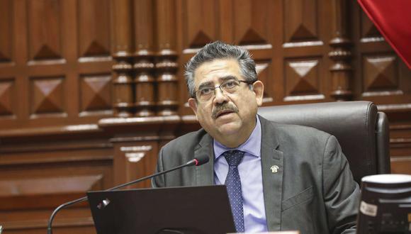 Manuel Merino consideró que Yonhy Lescano debería disculparse con la población por mostrarse en contra de la vacancia de Martín Vizcarra. (Foto: Andina)