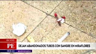 Miraflores: dejan abandonadas jeringas y tubos con sangre en la vía pública