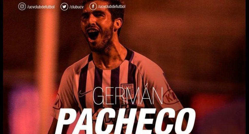 Germán Pacheco - UCV: 500 mil euros. (Foto: UCV).