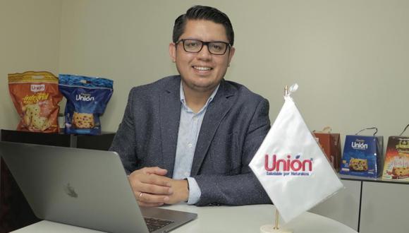 Martín Saldaña, gerente general de Unión, señala que el mercado de panetones  mantendrá este año los volúmenes de venta del 2019. Sin embargo, la marca sí crecerá un 15%, estima.