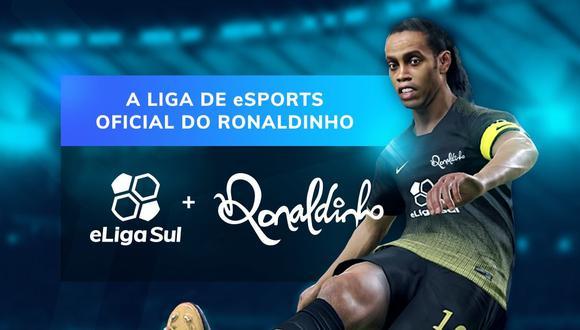 Ronaldinho tiene su propia liga de deportes electrónicos, la cual lleva por nombre eLiga Sul. (Imagen: eLiga Sul)