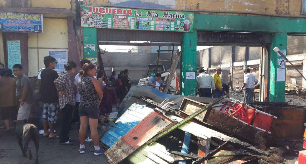 Incendio en Villa El Salvador: así quedó el mercado afectado - 1
