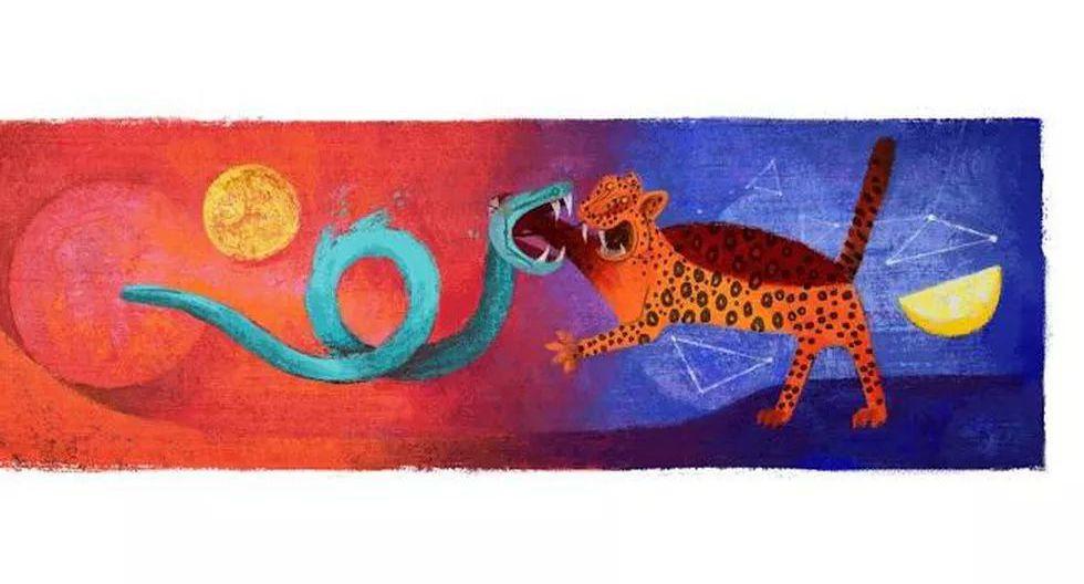 El 26 de agosto de 2013 Google le dedicó su doodle del día al pintor mexicano Rufino Tamayo, por cumplirse ese día los 114 años de su nacimiento. (Captura de pantalla)