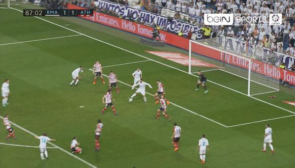 Cristiano Ronaldo marcó de taco
