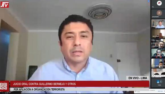 Guillermo Bermejo fue reconocido por la testigo en la audiencia virtual. (Justicia TV)