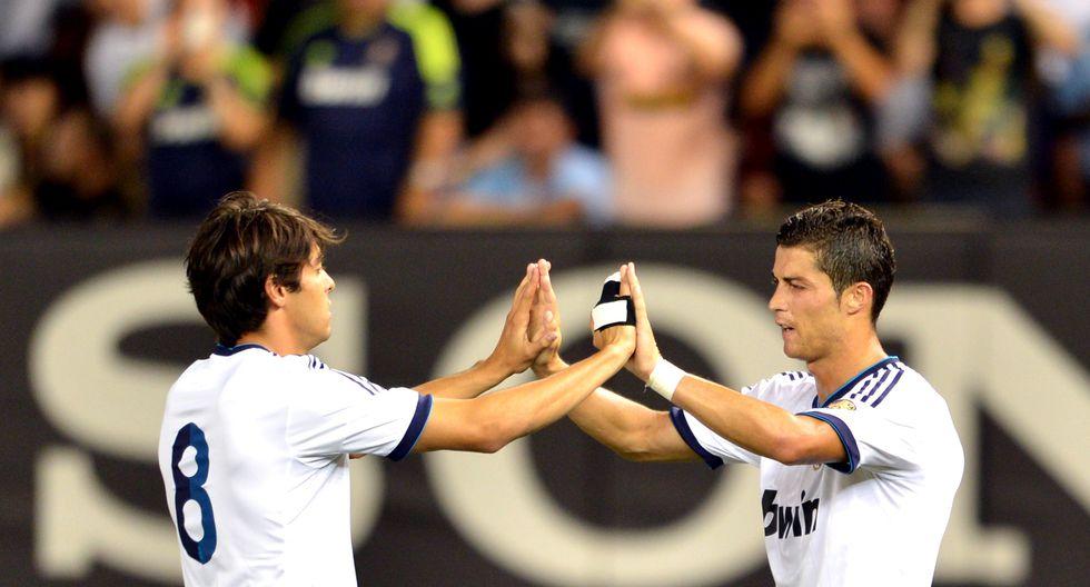 Kaká y Cristiano Ronaldo fueron compañeros en Real Madrid. (Foto: AFP)