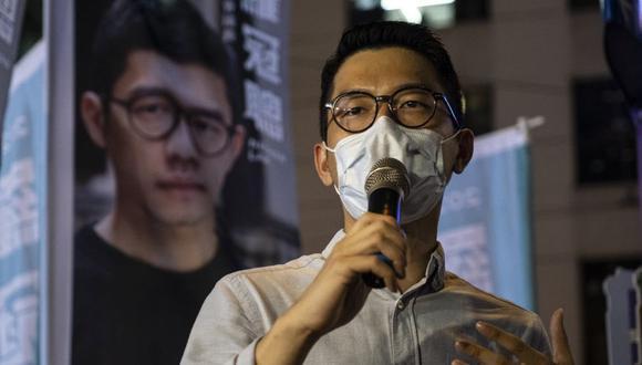 Nathan Law dijo que continuará con su activismo por Hong Kong en el plano internacional. (Foto: Chan Long Hei / Bloomberg)