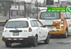 Callao: imprudentes maniobras de conductores en la Av. Faucett