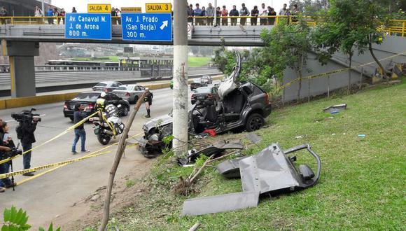 Para la División e Investigación de Accidentes de Tránsito, los accidentes mortales sucedidos en Lima se deben principalmente a factores como la imprudencia del conductor, la imprudencia del peatón, y el exceso de velocidad (Foto: archivo)