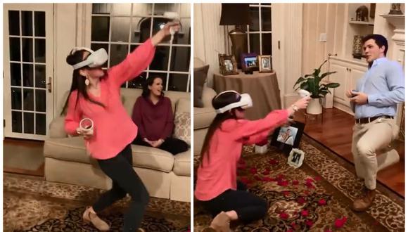 Jordan Flom le pidió matrimonio a su novia cuando ella jugaba un frenético videojuego de disparos. (Foto: jordanflomfitness / TikTok)