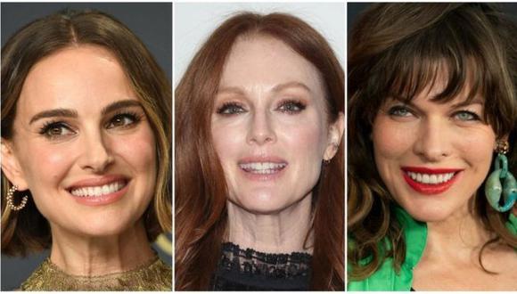 Natalie Portman, Julianne Moore y Milla Jovovich están entre las actrices que firmaron la petición para apoyar a Las Tesis. (Foto: Getty Images, vía BBC Mundo).