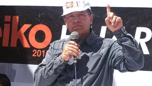 Vladimiro Huaroc apeló fallo que lo excluye de plancha de Keiko