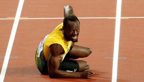 Un desgarro puso fin a la carrera de Usain Bolt este sábado. (Foto: Reuters)