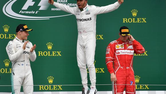 Lewis Hamilton de Mercedes se impuso de punta a punta en el gran premio de su nación y alcanzó los 176 puntos en mundial