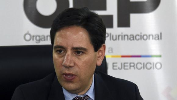 Salvador Romero, presidente del Tribunal Supremo Electoral (TSE) de Bolivia. (Foto: AIZAR RALDES / AFP).
