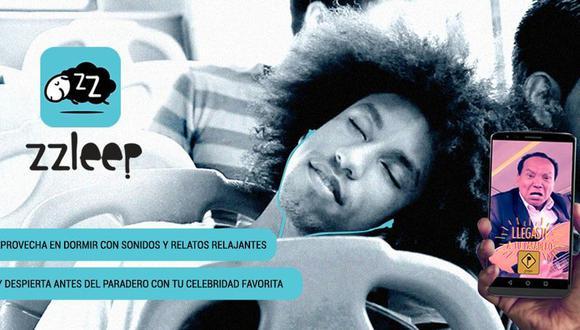 Zzleep, la nueva app peruana que te cuida de no pasarte de paradero con la voz de Melcochita.