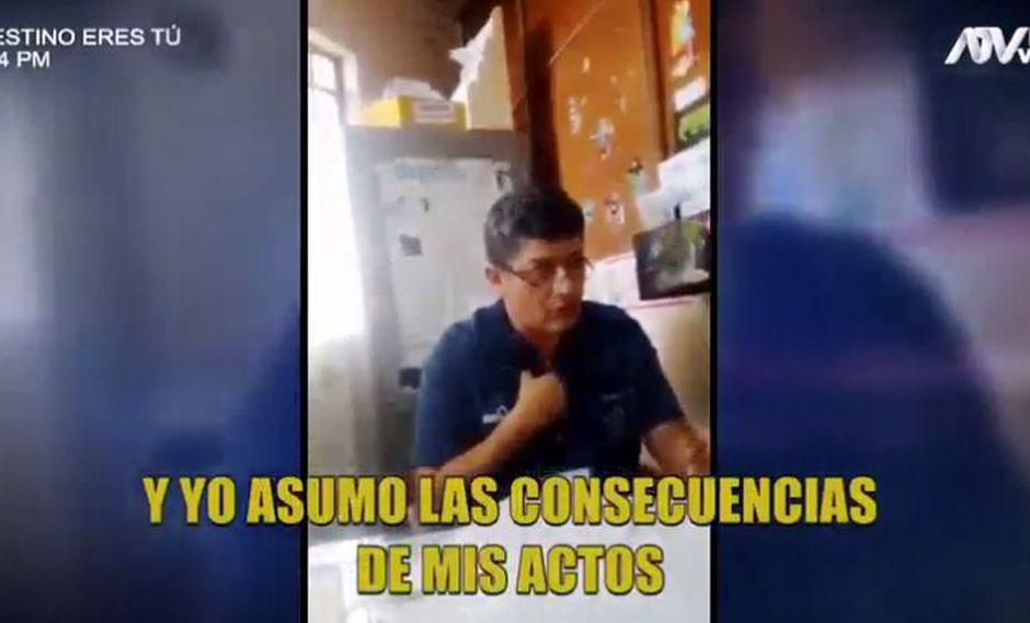 A través de un video registrado por la madre de la niña, el pediatra reconoció la operación en el testículo sano. (Captura ATV)