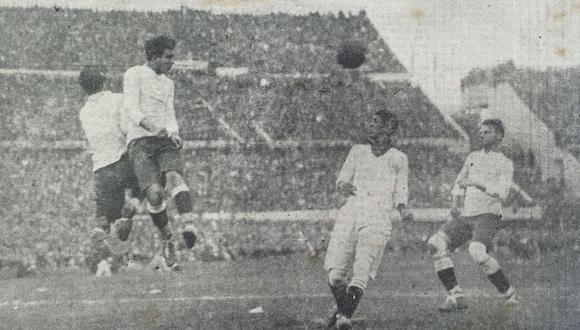 La selección peruana se enfrentó a Rumanía y Uruguay durante la primera Copa del Mundo celebrada por la FIFA.