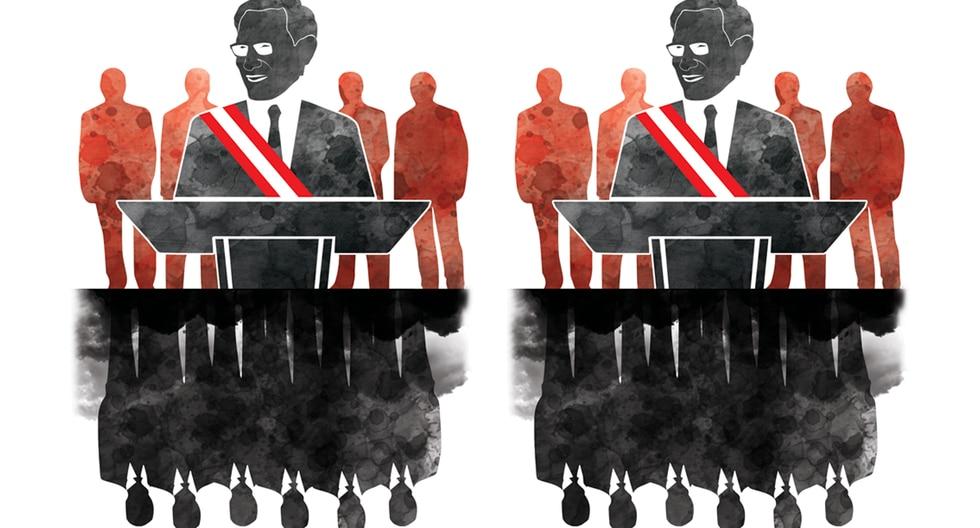"""""""La corrupción erosiona la gobernabilidad. No en vano, en el Perú, ha interrumpido dos gobiernos y tenemos tantos expresidentes transitando por la justicia penal"""". (Ilustración: Rolando Pinillos Romero)"""