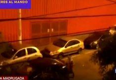 Surquillo: vecinos graban el momento de un asalto a taxista por aplicativo   VIDEO