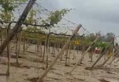 Inundaciones afectan fundos de La Tinguiña en Ica